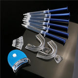 6pcs Professional Dental Care Teeth Whitening Bleaching Kit with 6 Gel 2 Mouth and 1 Light - Empire Accessories Inc