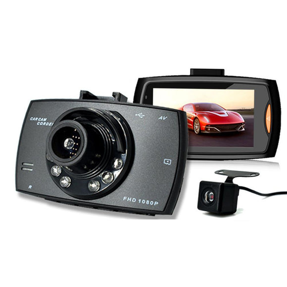 2.7 Inch Car DVR Camera Full HD 1080P 140 Degree Wide Angle Dual Lens Night Vision Dash Cam - Empire Accessories Inc