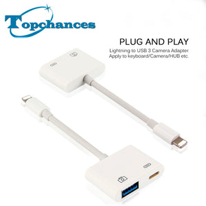 Lightning to USB 3 Camera Reader Adapter Data Sync Charge Cable - Empire Accessories Inc
