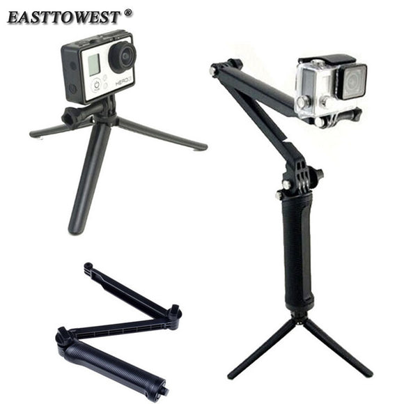 For Go Pro Accessories 3-Way Grip Arm Tripod Camera Pole - Empire Accessories Inc