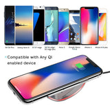 Qi Wireless Charger Charging Pad With Light Indicator For iPhone 8/X,Galaxy - Empire Accessories Inc