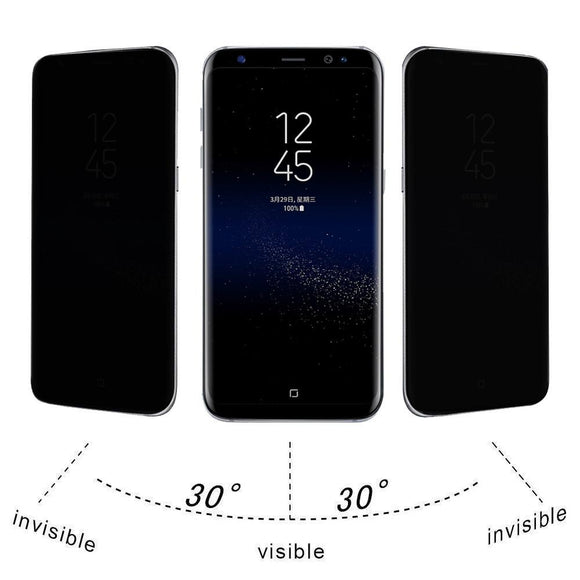 Samsung Galaxy S8 Privacy Full Screen Protector Anti-Spy Tempered Glass - Empire Accessories Inc