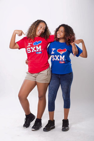I Love SXM Children T.shirts