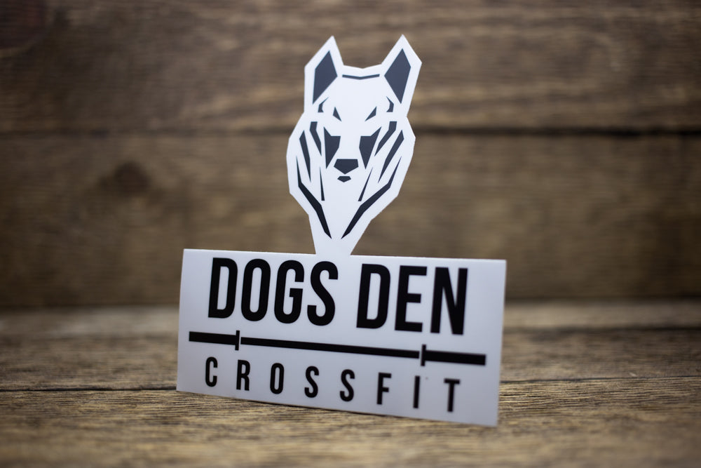 Dogs Den CrossFit Matte Stickers