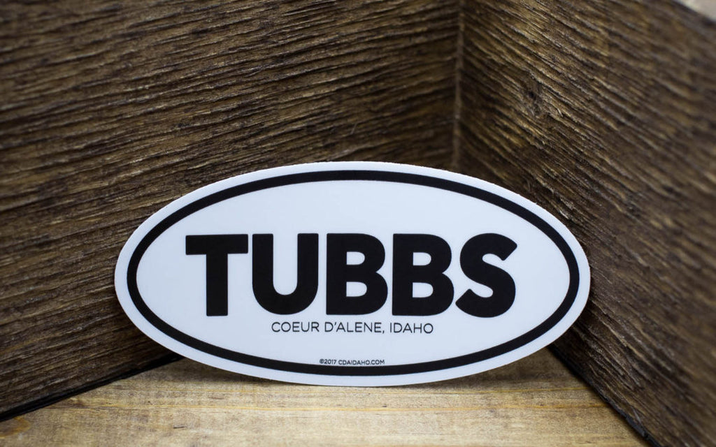 CDA IDAHO Tubbs Stickers