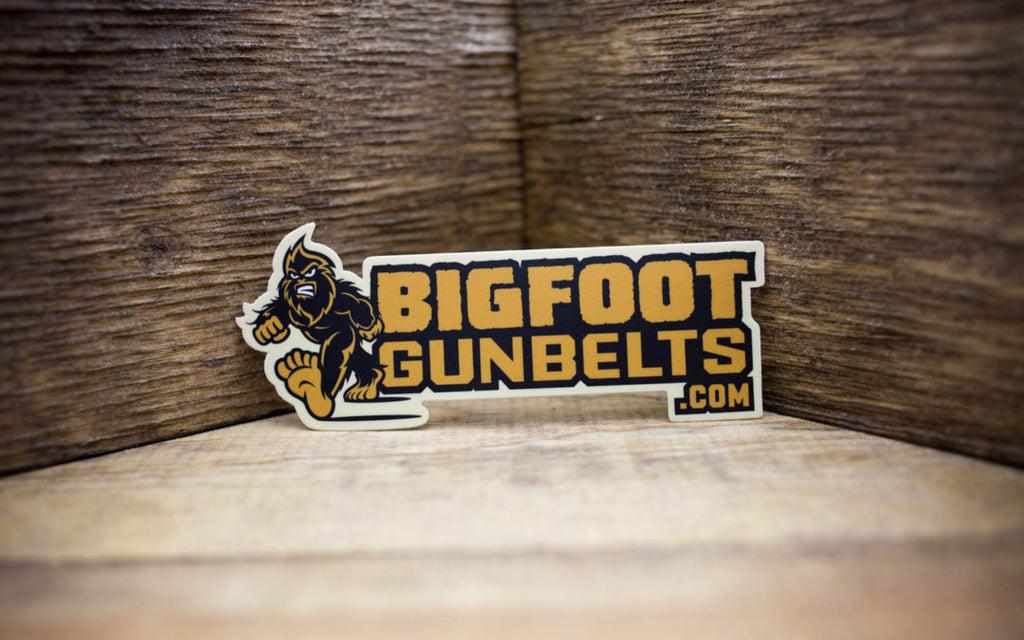 Bigfoot Gun Belts Matte Stickers