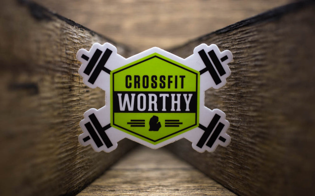 CrossFit Worthy Matte Stickers