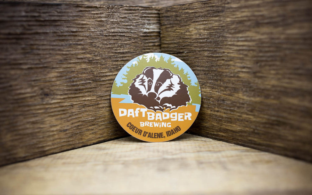Daft Badger Brewing Round Stickers