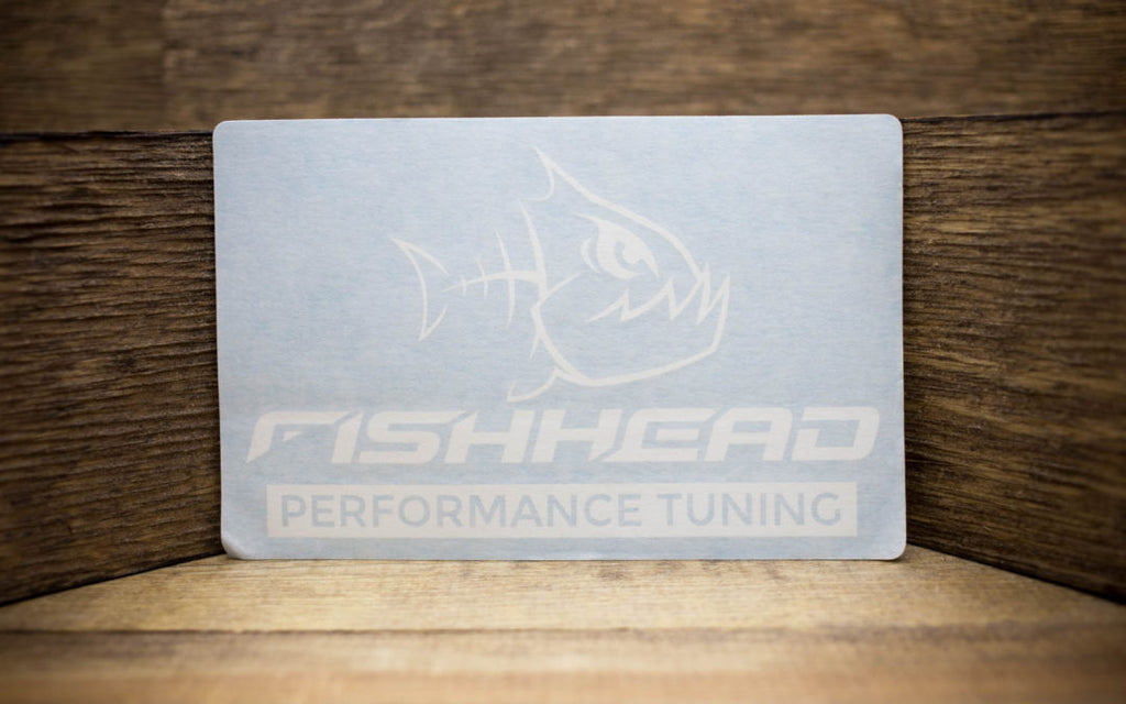 Fishhead Performance Tuning White Cut Vinyl Decal