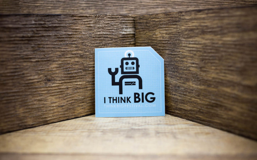 I THINK BIG Festival Matte Stickers