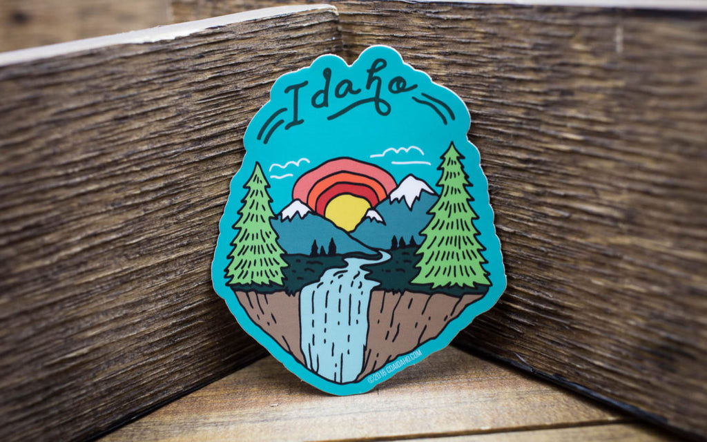 CDA IDAHO Scenery Sticker