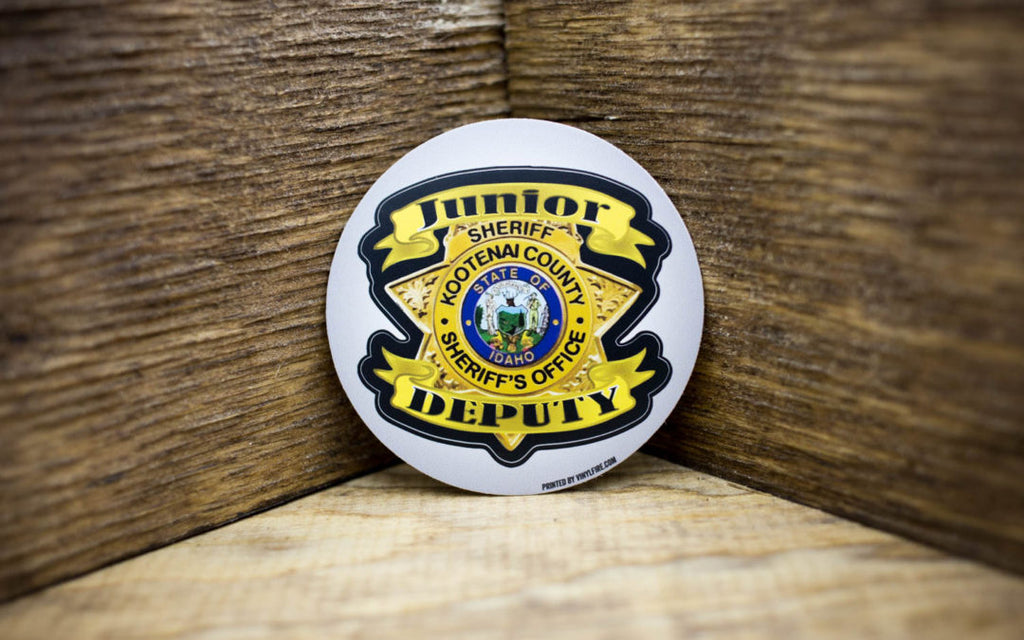 Kootenai County Junior Deputy Sheriff Stickers