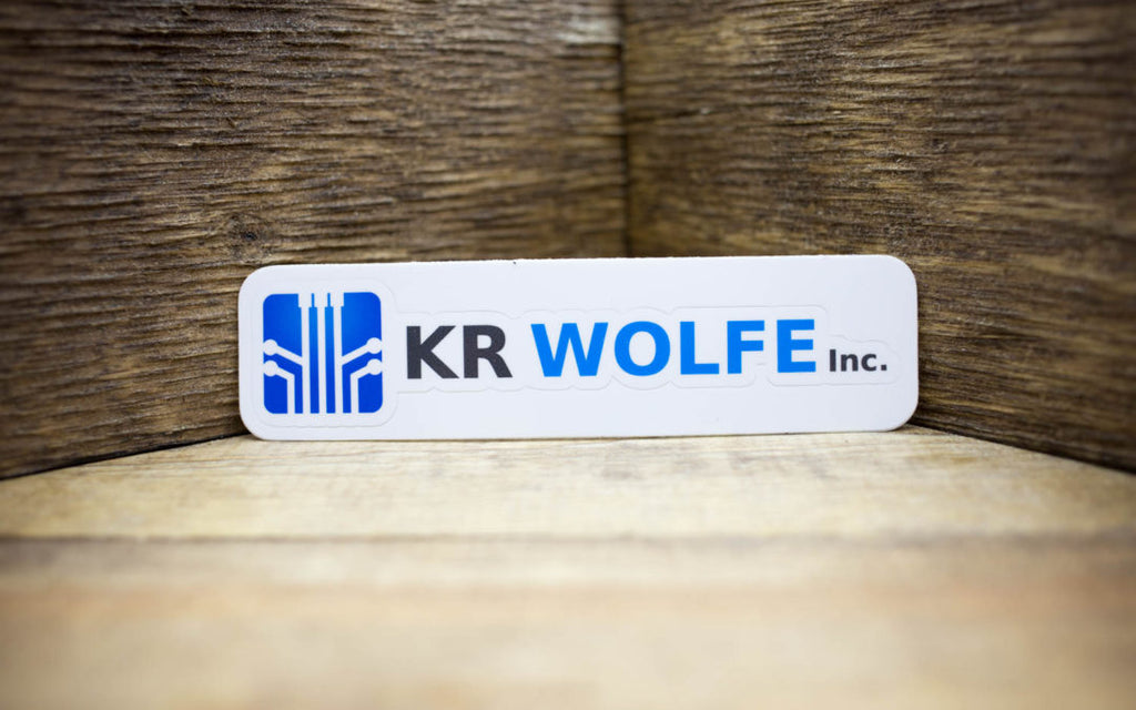 KR Wolfe, Inc. Glossy Combo Cut Stickers