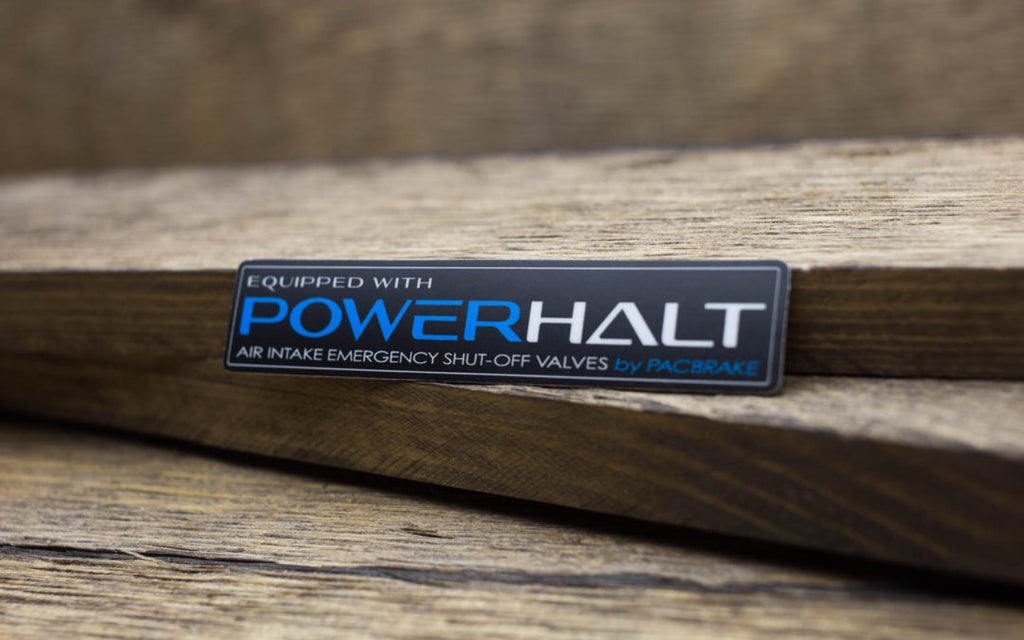 Pacbrake Powerhalt Matte Stickers