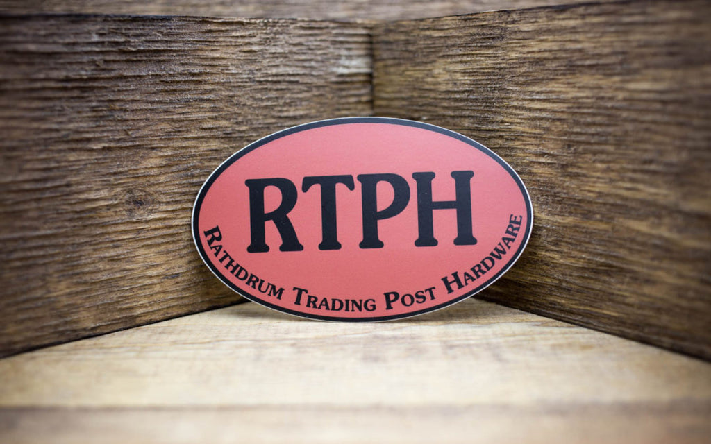 Rathdrum Trading Post Hardware Matte Stickers