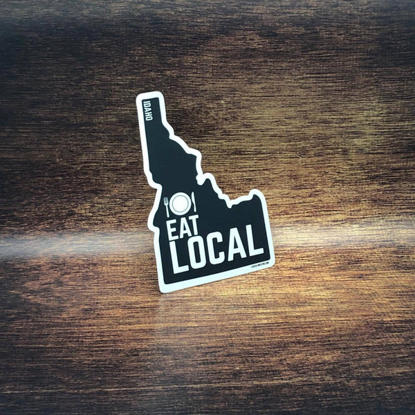 Eat Local Idaho Sticker