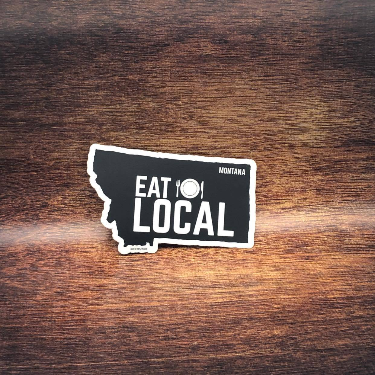 Eat Local Montana Sticker