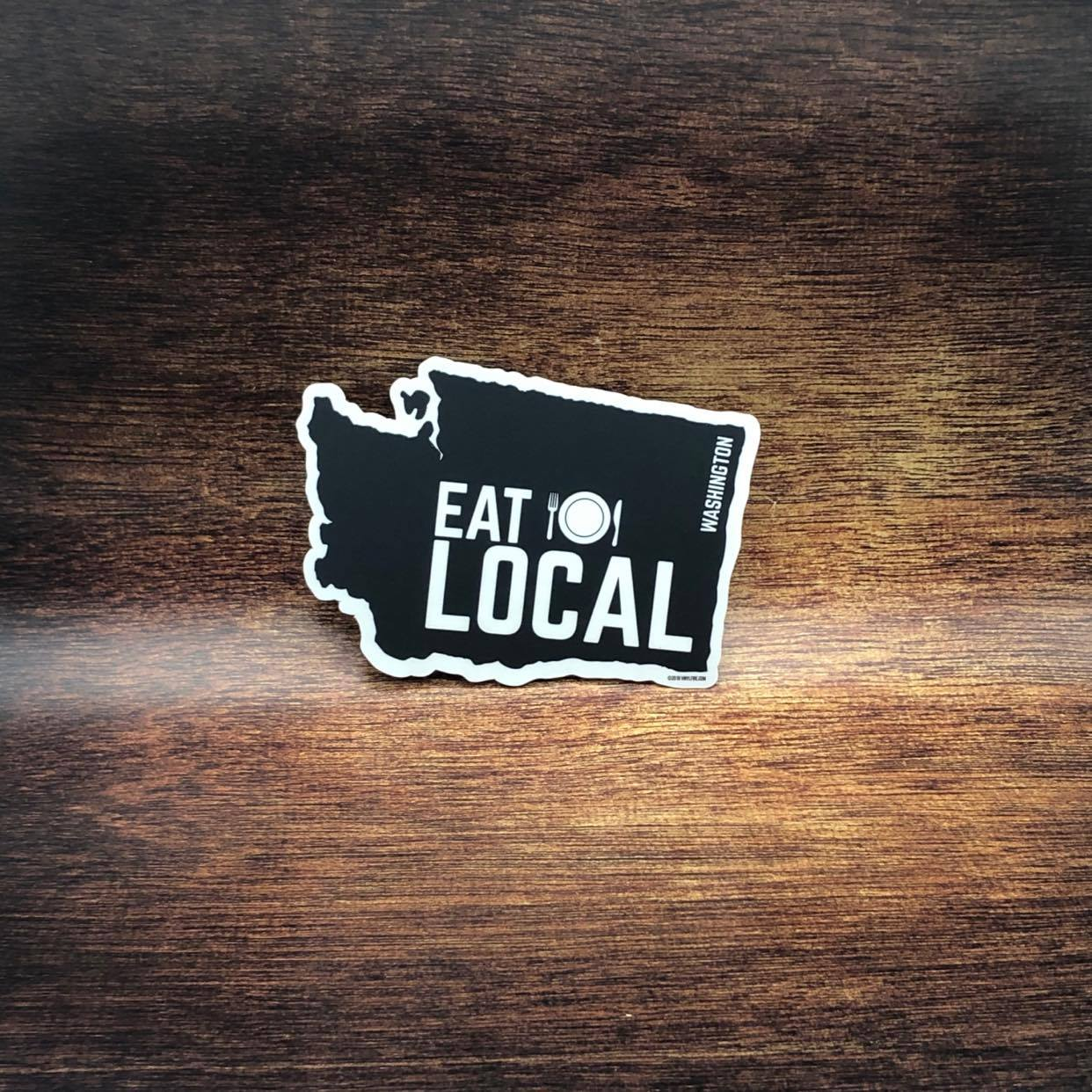 Eat Local Washington Sticker