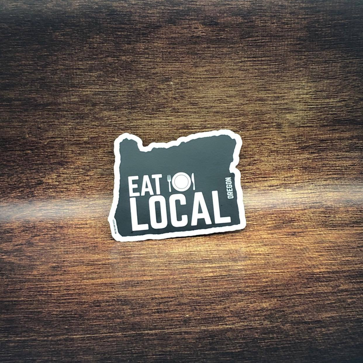Eat Local Oregon Sticker