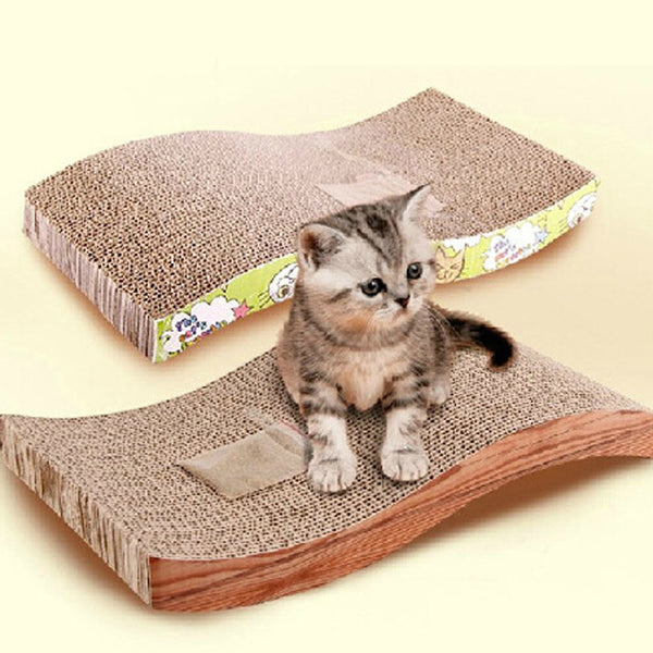 Soft Corrugated paper Durable double-sided Kitten Scratcher