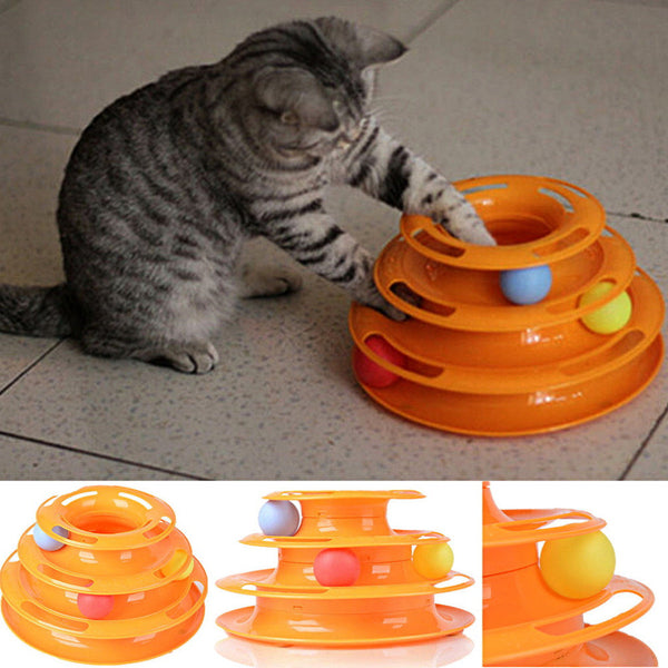 Three Layers Intelligence Crazy Amusement Petstages Tower of Tracks Pet Toy