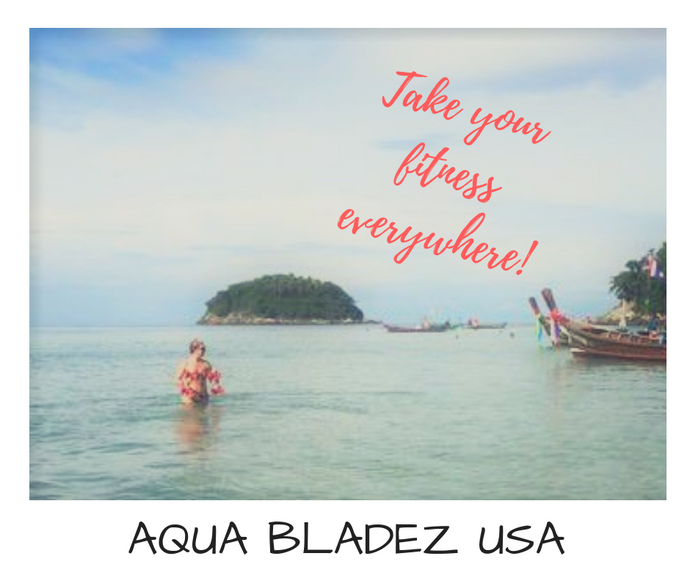 Great for JetLag? Take Your Fitness Everywhere, pack your Aqua Bladez