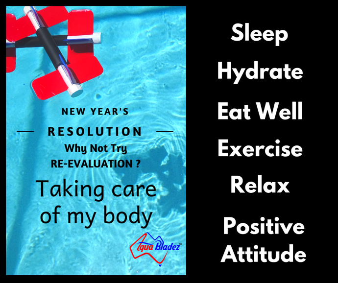 "Resolutions Try Re-evaluations like: ""Taking care of my body"""