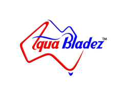 aqua bladez usa red and blue logo