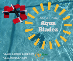 Aqua Bladez set floating in pool