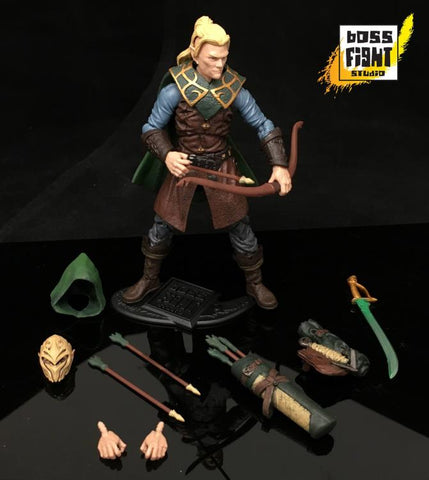 Boss Fight Studio Vitruvian H.A.C.K.S. Q'Al Varis Elven Ranger Action Figure