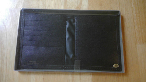 Black Leather Billfold Wallet With Box