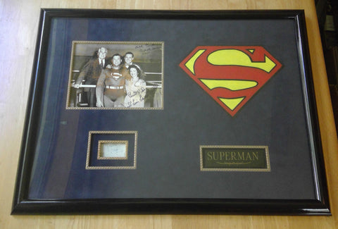 Authentic Signed George Reeves Superman Jack Larson Noel Neill Framed Photograph
