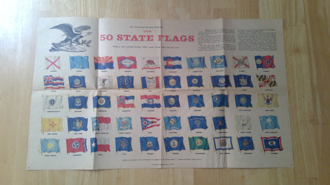 The American Weekly May 31, 1959 Our 50 State Flags Newspaper Insert