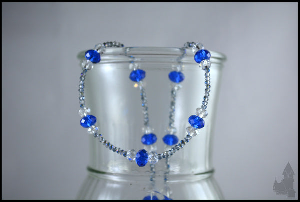 Baby Blue - Crystal beaded necklace