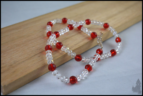 Bella in Red - Crystal beaded necklace