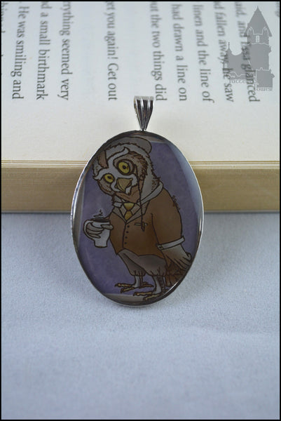 Gentleman Owl resin pendant