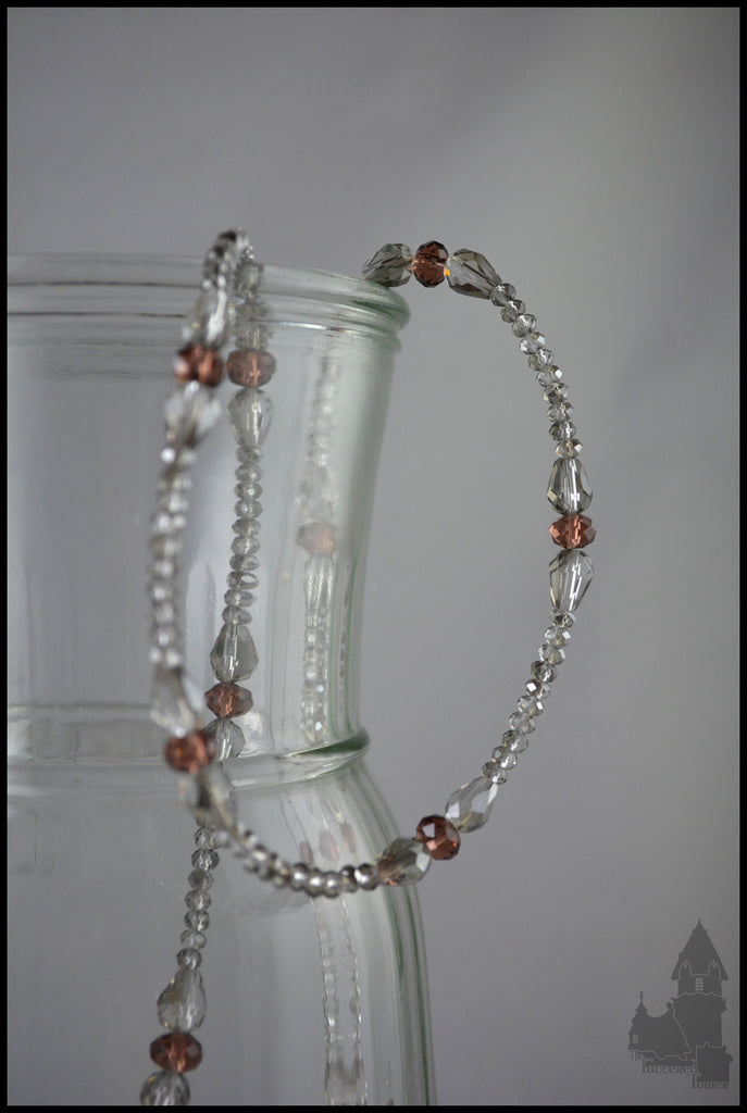 Marquise in Port - Crystal beaded necklace
