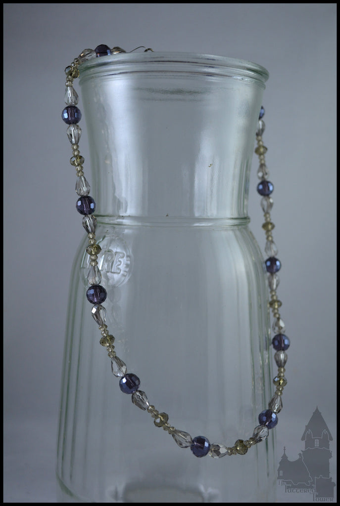 Marquise in Royal Purple - Crystal beaded necklace