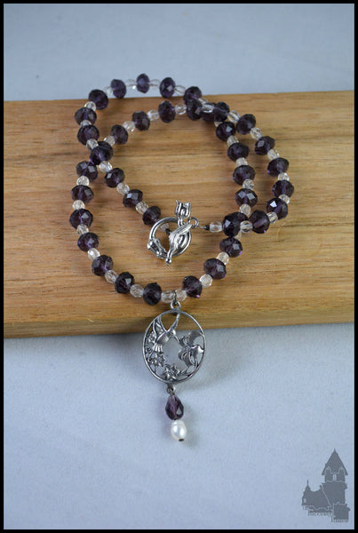 Melody - Pewter and crystal necklace