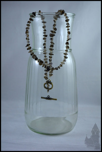 Quartz and Crystal - Smokey natural quartz necklace
