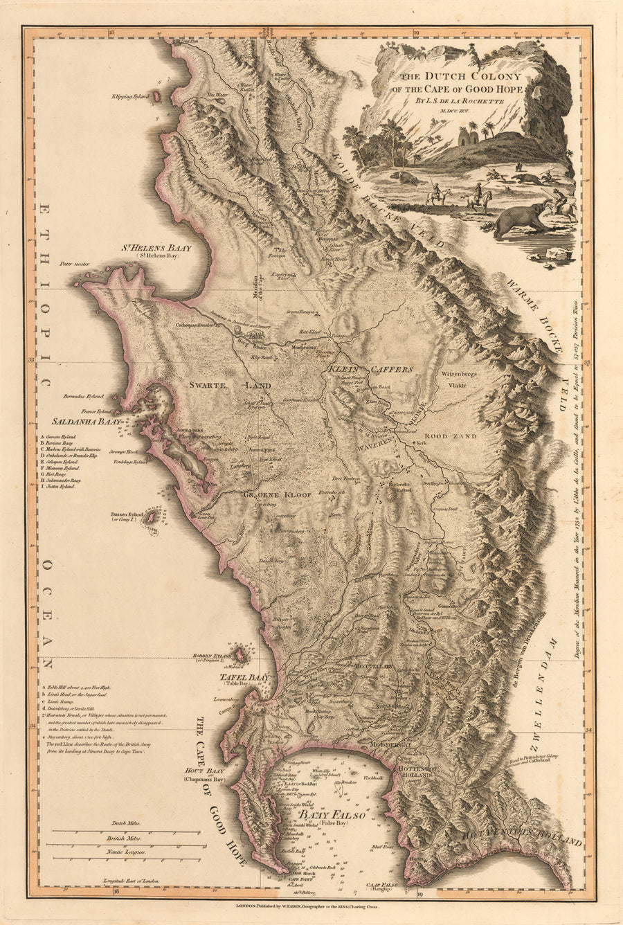 The Dutch Colony of the Cape of Good Hope By: William Faden Date: 1795