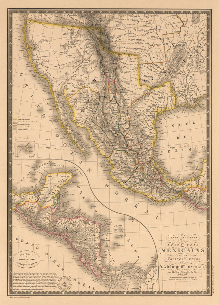 vintage maps of mexico the vintage map shop tagged north america