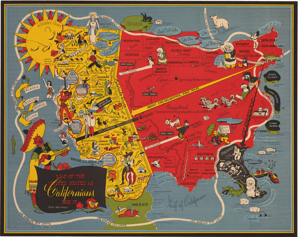 Vintage Maps of the United States - The Vintage Map Shop ...