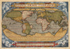 Giclée Print Reproduction of Typus Orbis Terrarum By: Abraham Ortelius Date of Original: 1587