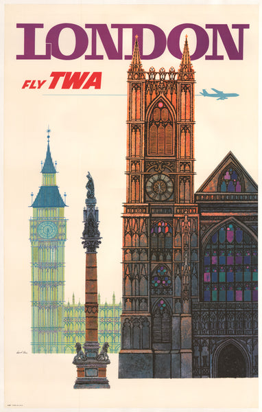 1960's Fly TWA London