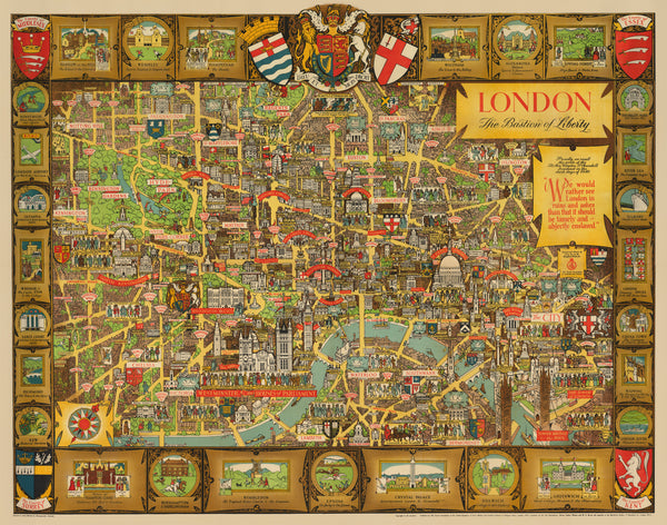 The Map Shop London.1946 London The Bastion Of Liberty