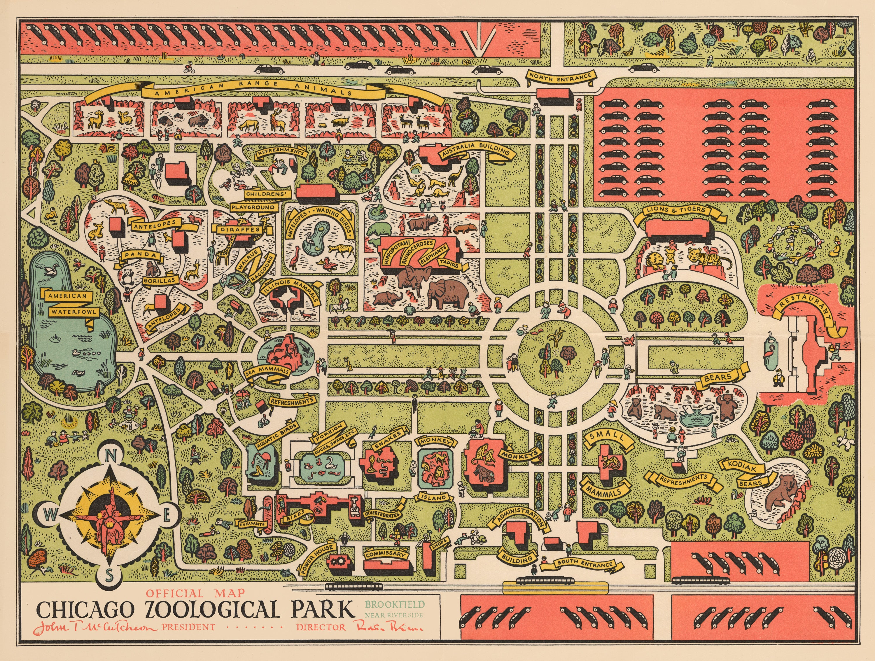 1948 Official Map Chicago Zoological Park on map of roselle, map of bensenville, map of frankfort, map of joliet, map of rockford, map of naperville, map of fox lake, map of illinois, map of will county, map of niles, map of pingree grove, map of quincy, map of schaumburg, map of highland, map of lockport, map of lisle, map of north shore, map of decatur, map of bellwood, map of brookfield,