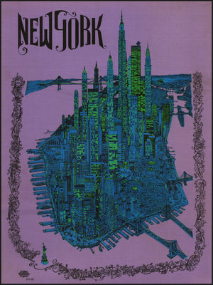 New York by: David Schiller 1968 - Fine Print Reproduction