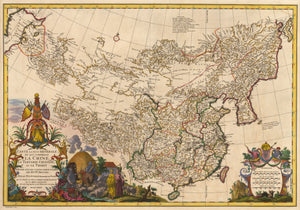 Carte La Plus Generale et qui comprend La Chine... by: dAnville 1737