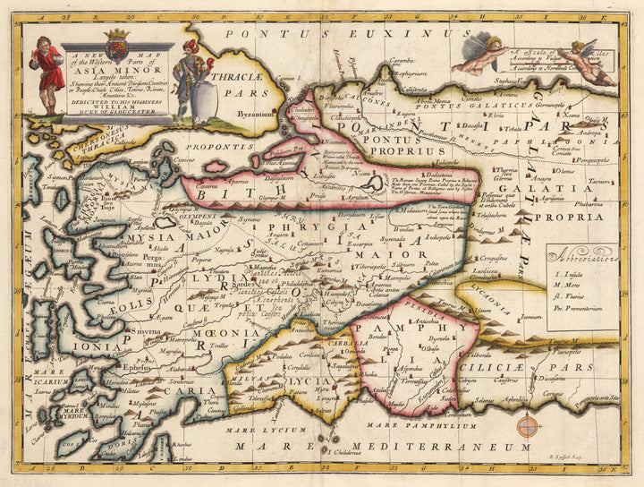 A New Map of the Western Parts of Asia Minor... by: Edward Wells, 1700